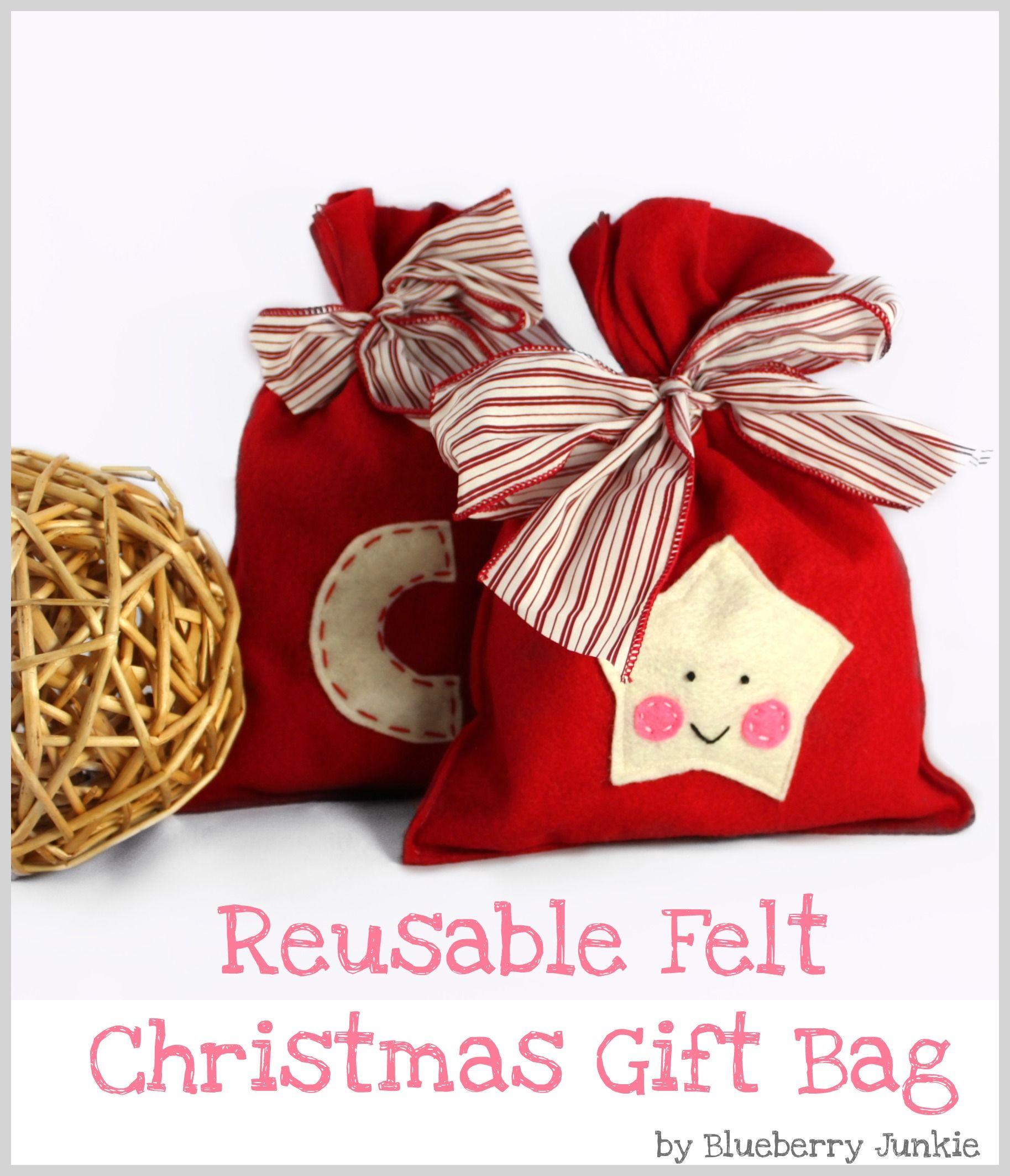 Felt Christmas Gift Bag | Christmas gift bags, Christmas