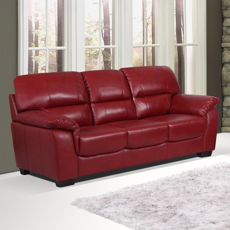 2018 Burgundy Leather Sofas Warm And