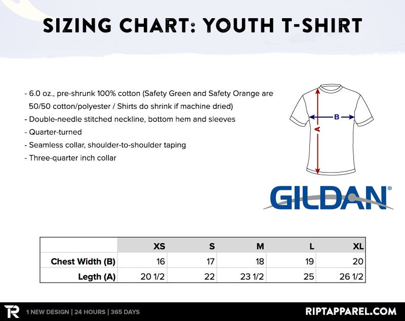 What are the sizes of your garments? u2013 RIPT APPAREL - Helpdesk - t shirt order form