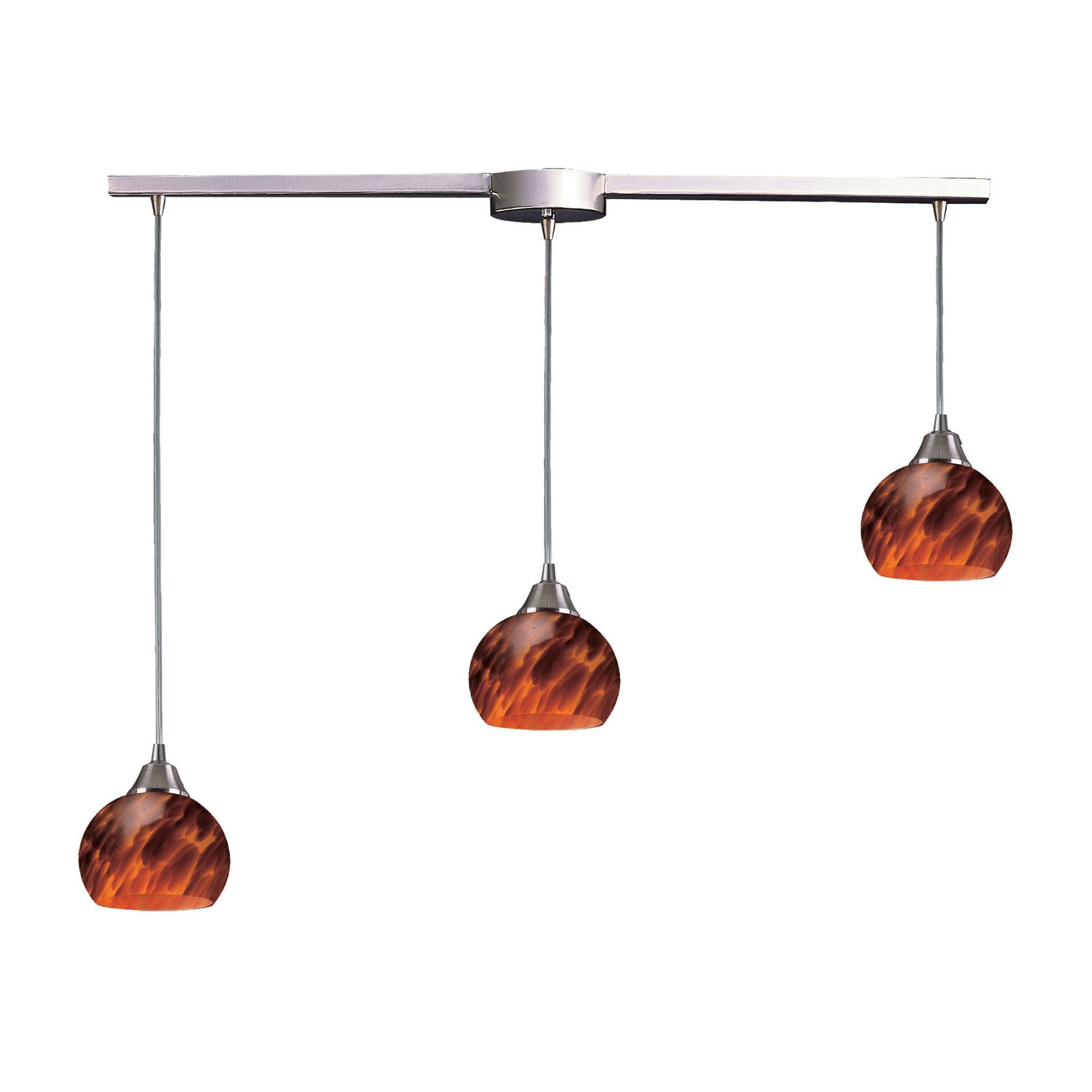 Mela light pendant in satin nickel and espresso products