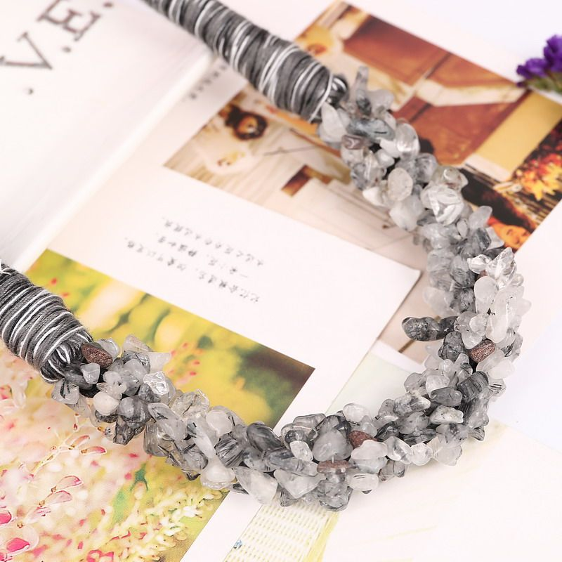 100% piedra natural beads choker collar de la vendimia collar de cuerda de bricolaje colgantes de la cadena collares declaración para la joyería de las mujeres regalos