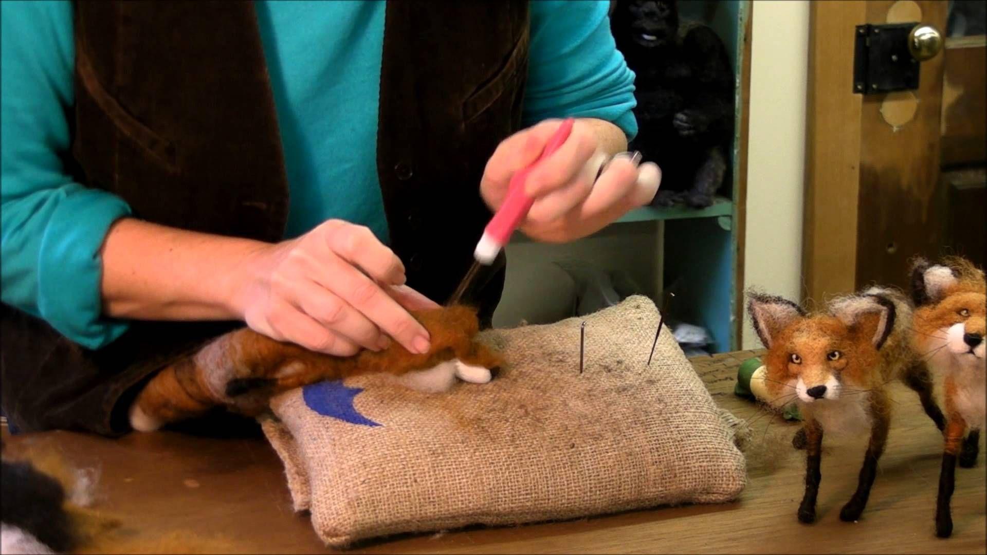 How to Needle Felt Animals – Fox Series 7: Ears by Sarafina Fiber Art