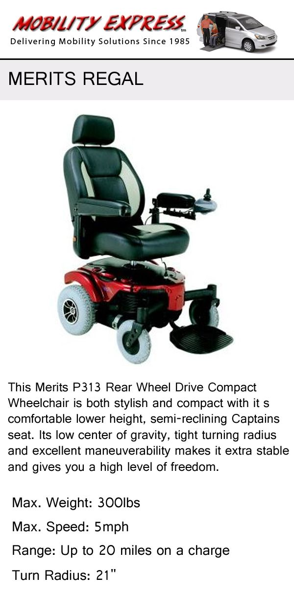 Merits Regal. A luxury power chair with additional features ...