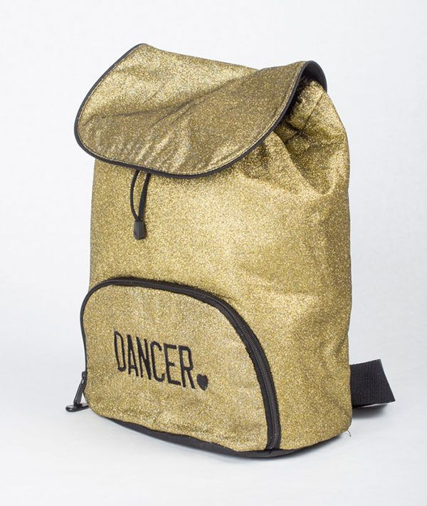 Gold Glitter Dancer Backpack