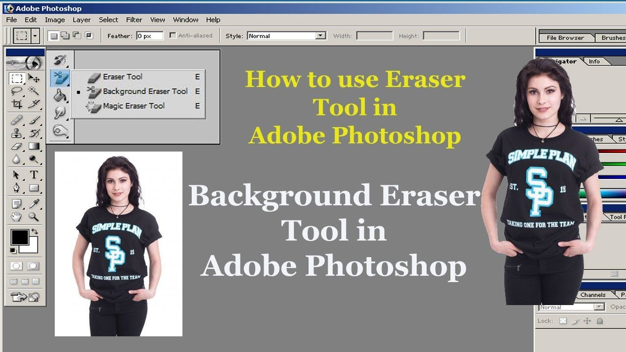 Background Eraser tool in Adobe in 2020