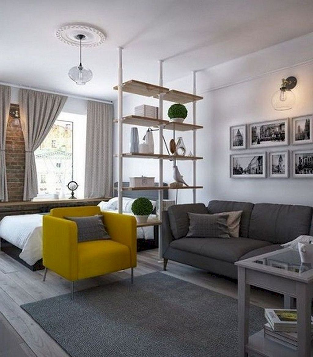 65 Clever Studio Apartment Decorating Ideas Small