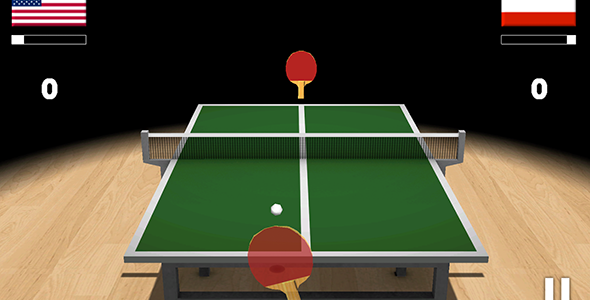 Ping Pong 3D with Admob Table tennis game, Ping pong