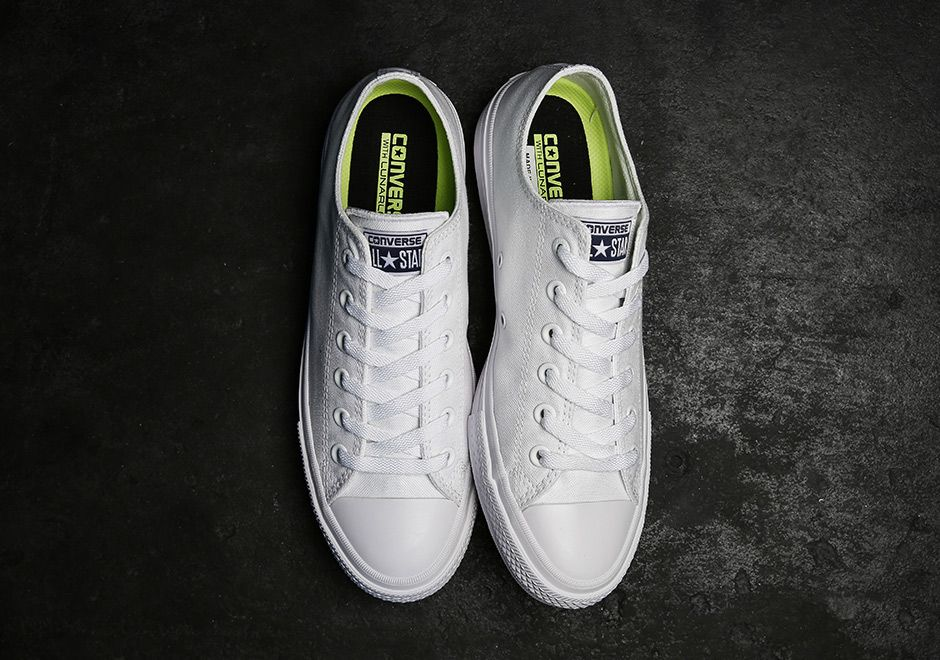 converse chuck taylor 2 white low