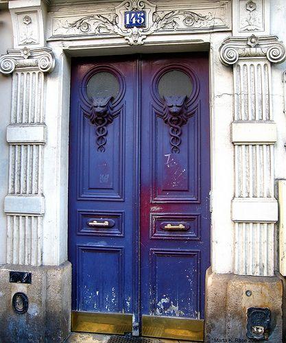Blue doors.
