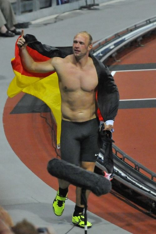 Robert Harting Winning With Nice Bulge Big Boys Sport