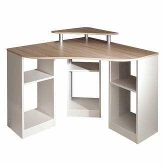 bureau informatique d 39 angle en bois longueur 94cm hades port offert id es d co pinterest. Black Bedroom Furniture Sets. Home Design Ideas