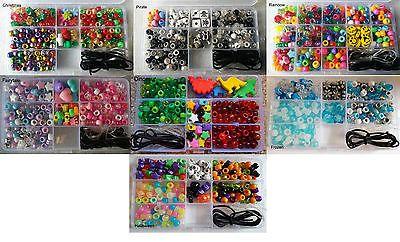 Pony beads jewellery bracelet kit box #craft 100 #pearl glitter #frosty metallic,  View more on the LINK: http://www.zeppy.io/product/gb/2/201453117392/