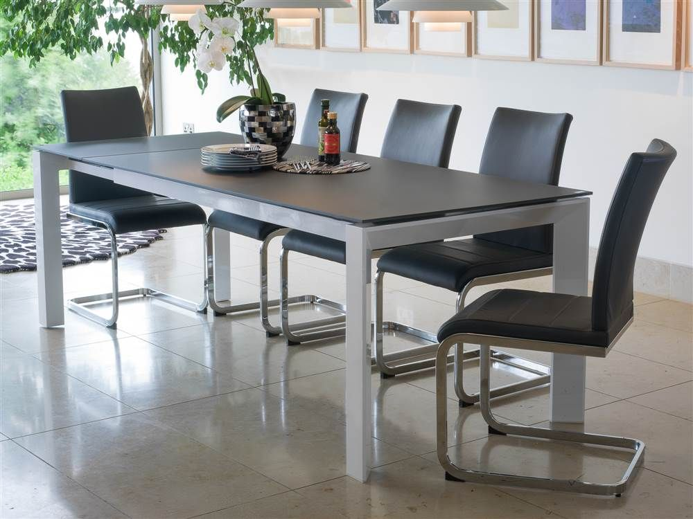 Mobocontemporarylargeextendingdiningtableseats81072791P Pleasing Extendable Dining Room Sets Decorating Design