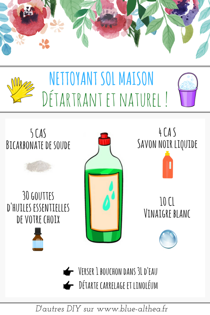 Recette maison : nettoyant sol & spray multi-usage naturel