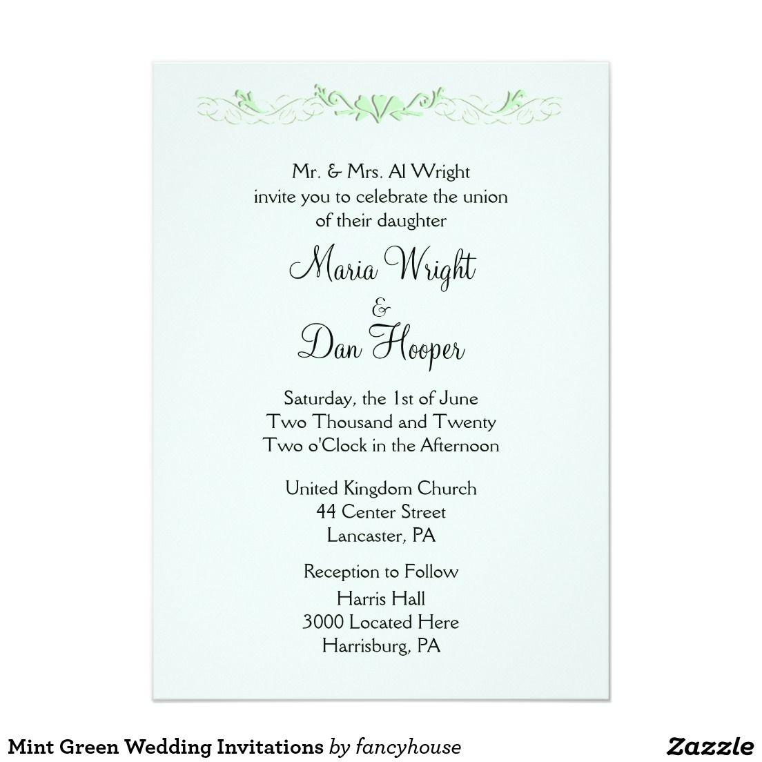 Mint Green Wedding Invitations Mint Green Weddings Green Weddings