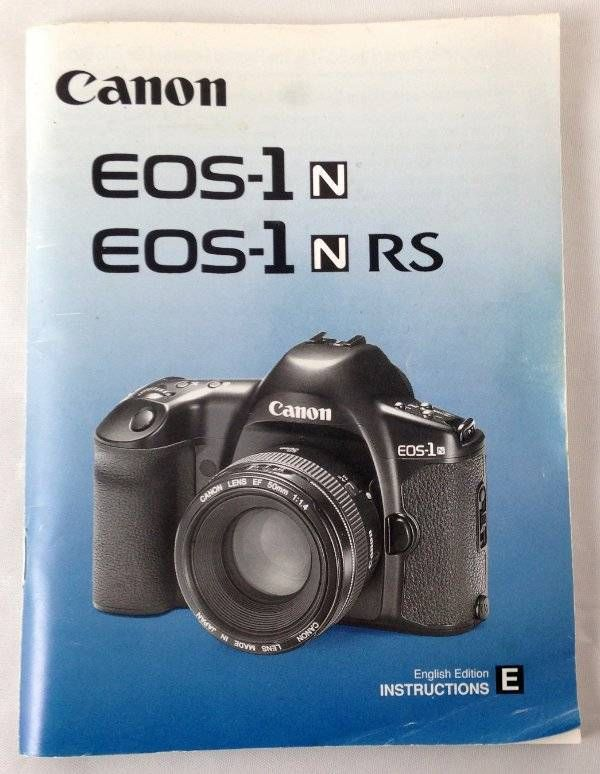 Genuine Canon Eos 1n 1n Rs Camera Instruction Manual Book English
