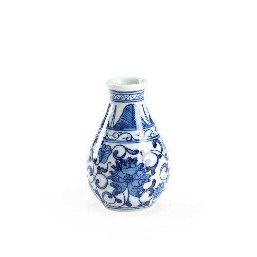 Manchu Blue and White Bud Vase Chelsea House - 384611 | Chelsea House 384611 Manchu Bud Vase in Blue/White, Transitional | Bellacor
