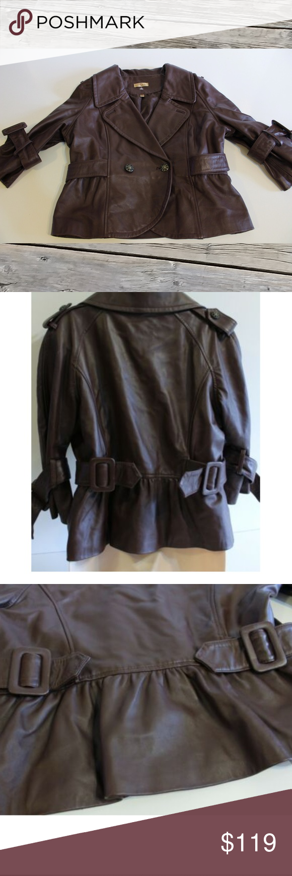Vintage Wilson's Brown Leather Jacket Size L in 2020 ...