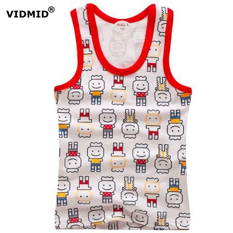 >> Click to Buy << 2-8Y Children vests Baby summer boy tanks solid color Girl Cotton tanks sleeveless kids stripe cartoon vests tanks beach #Affiliate