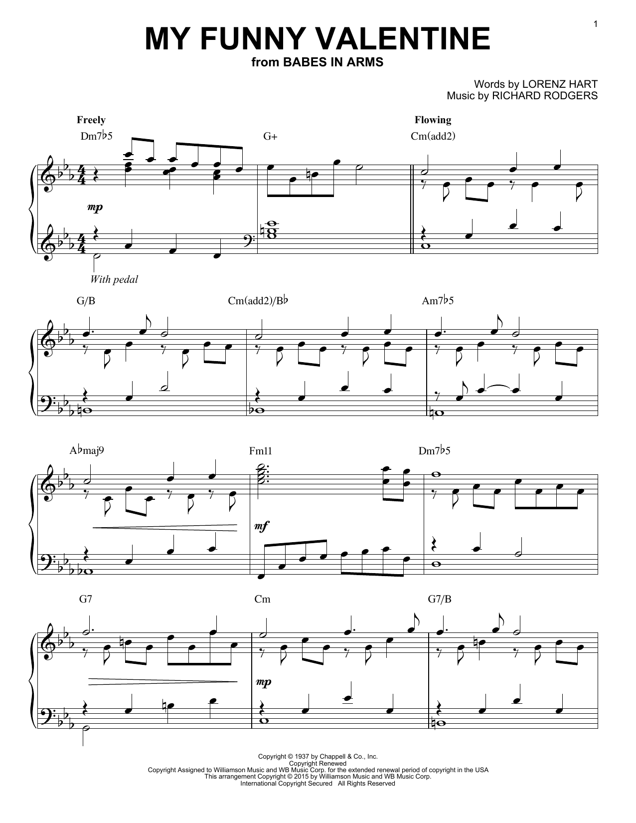 My Funny Valentine By Rodgers Hart Download Digital Music Notes