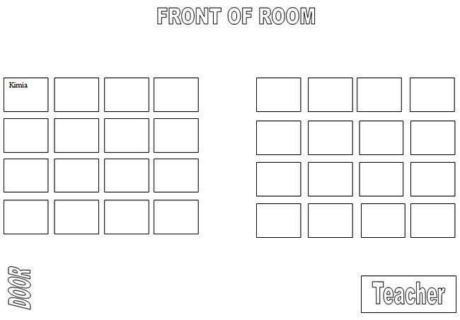 Teacher Seating Chart Template  PetitComingoutpolyCo