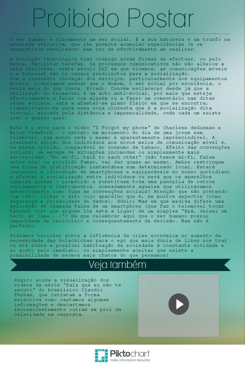 Proibido Postar | @Piktochart Infographic
