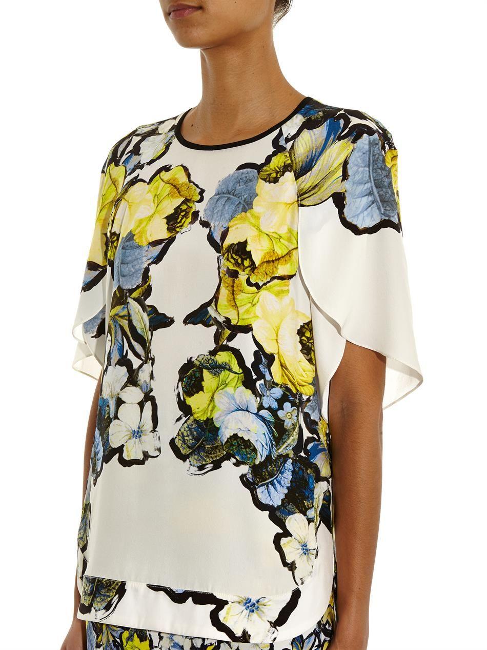 6708b66e4391e Erdem Rakeen floral placement-print top