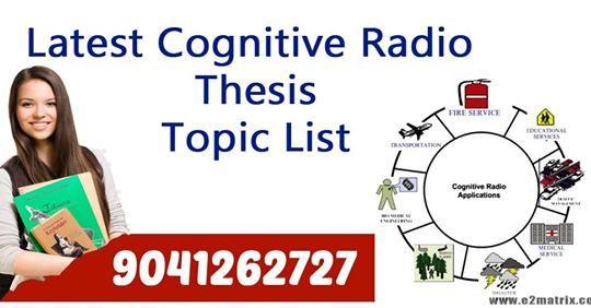 Cognitive radio dissertation