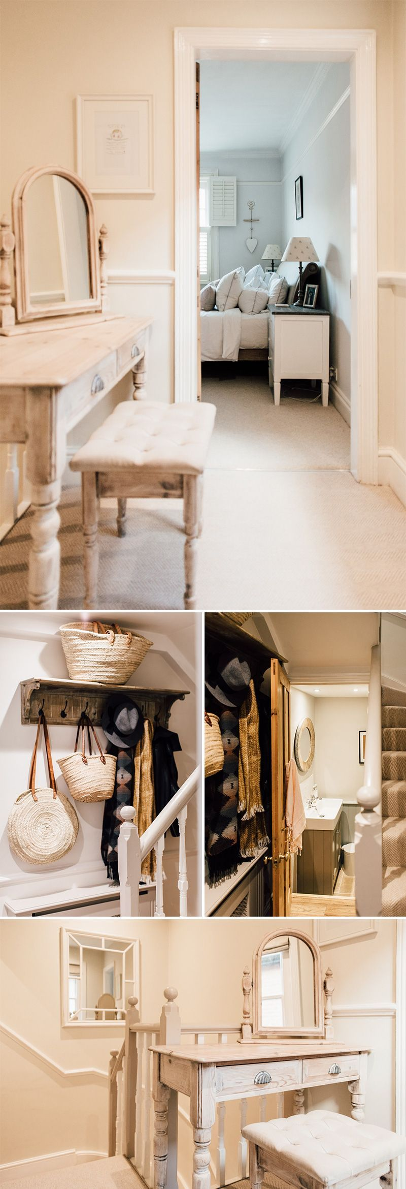 Storage for narrow hallway  Elleus Modern Country Home  Hallway Storage Ideas  Pinterest
