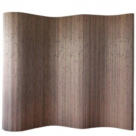 Paravent Raumteiler Trennwand Bambus Dunkelbraun Neu Nr 301