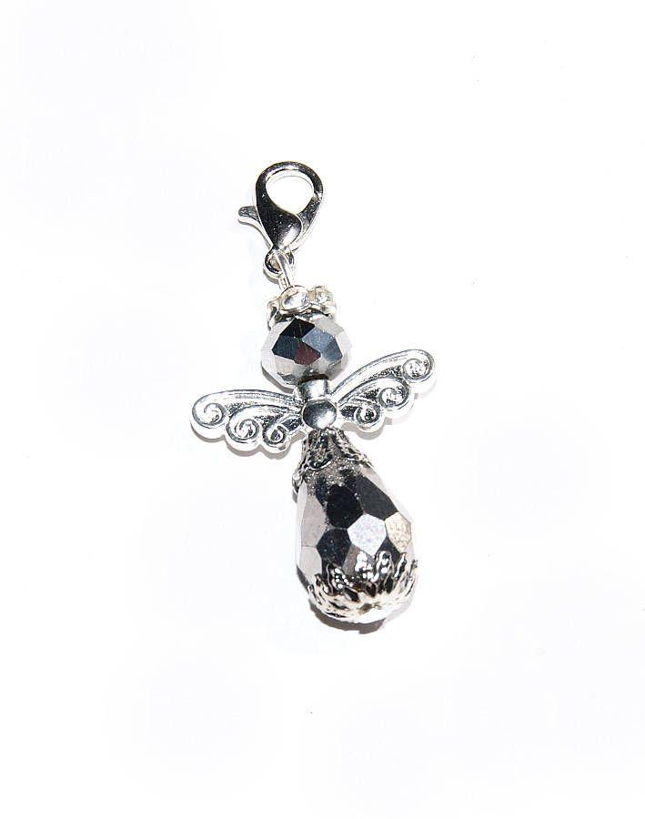 Schutzengel halskette angel verziert mit swarovski elements