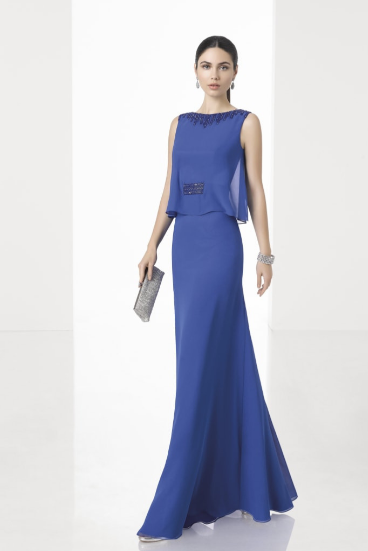 2837140e0 30 vestidos azules para un look de invitada. Si el azul es un color que te  sienta bien