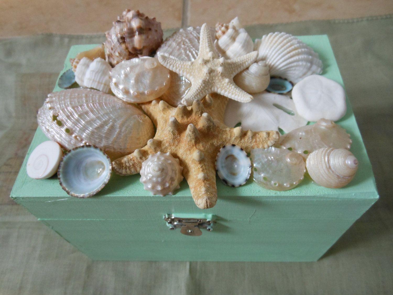 Beach Decor Seashell Jewelry Box 3200 via Etsy Seashell