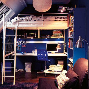 This Ikea Tromsö Loft Bed I Like The Idea Of Having A Desk Under