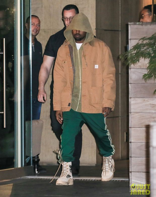 42e58036dec4 Kanye West in Yeezy Season 3 Boots