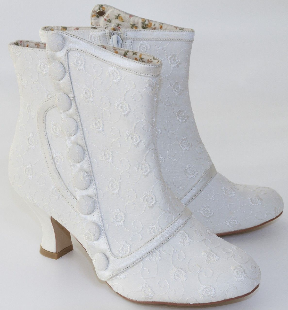 Vintage Style Wedding Boots Nelly By Perfect Bridal Shoes Ivory At The Boutique
