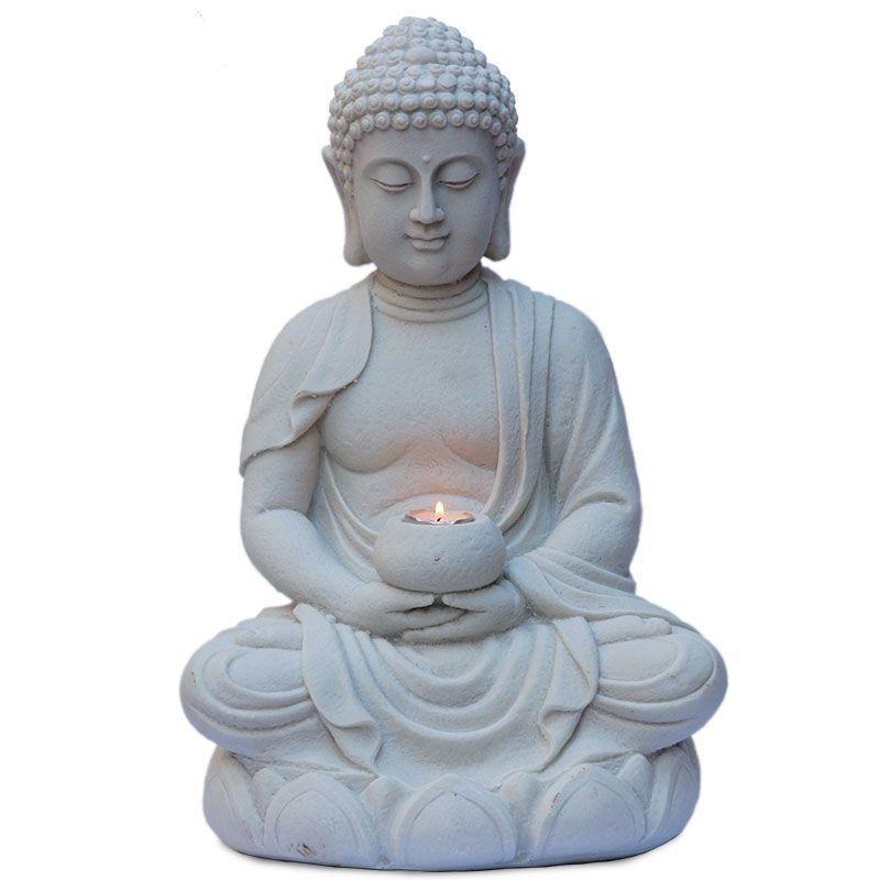 Escultura Buda Meditando 45cm - http://bit.ly/budameditando