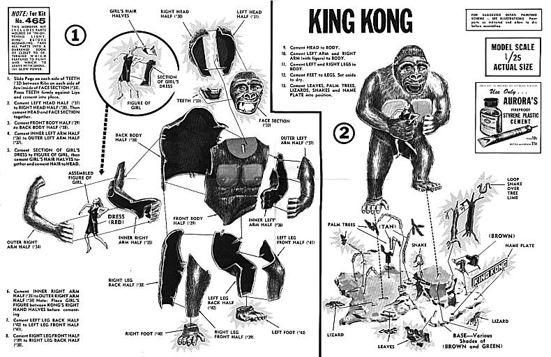 King Kong Aurora Model Kit Instructions / Collecting