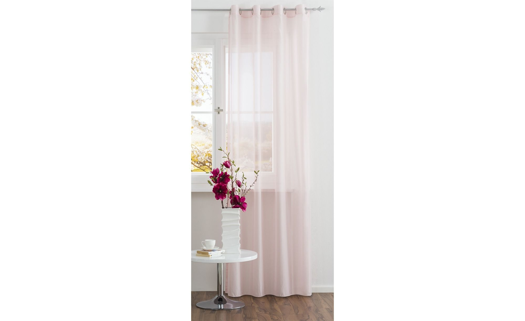 Ösenschal vorhang transparent voile gardinen pinterest room