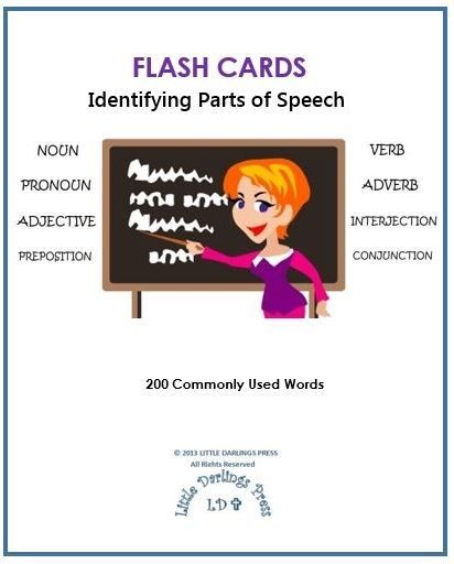 Free Flash Cards: Identifying Parts of Speech | Homeschooling