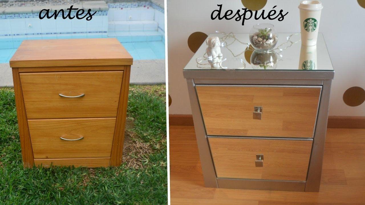 Diy transformación mesa de noche con espejos diy furniture