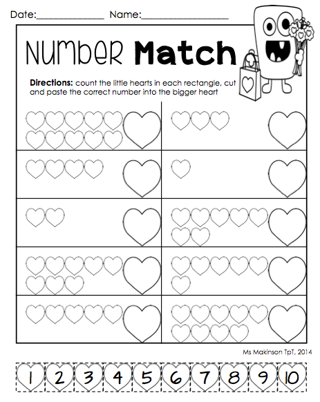February Printable Packet Kindergarten Literacy And Math Fun Math Worksheets Kindergarten Worksheets Kindergarten Math Worksheets