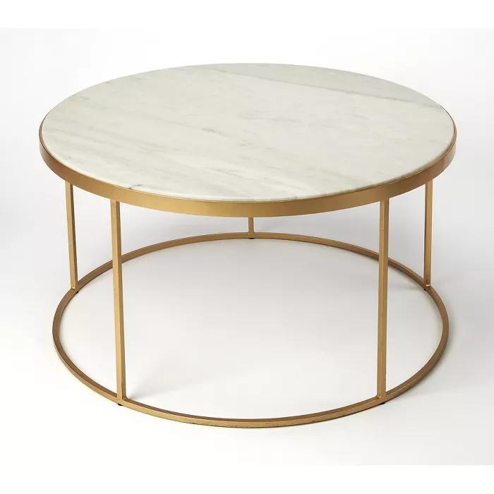 triton marble coffee table white