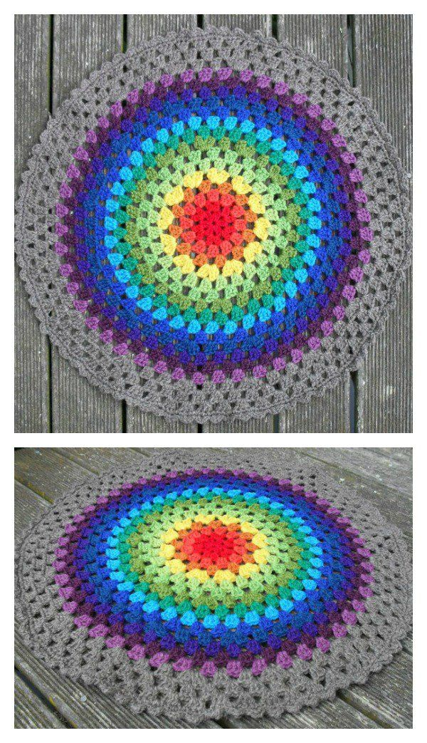 Colorful Crochet Mandala FREE Patterns | Patterns | Pinterest ...