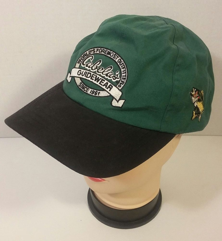 788388d6704 Cabela s Guidewear Baseball Hat Cap Adjustable Gore Tex Embroidered Green  Black  Cabelas  BaseballCap