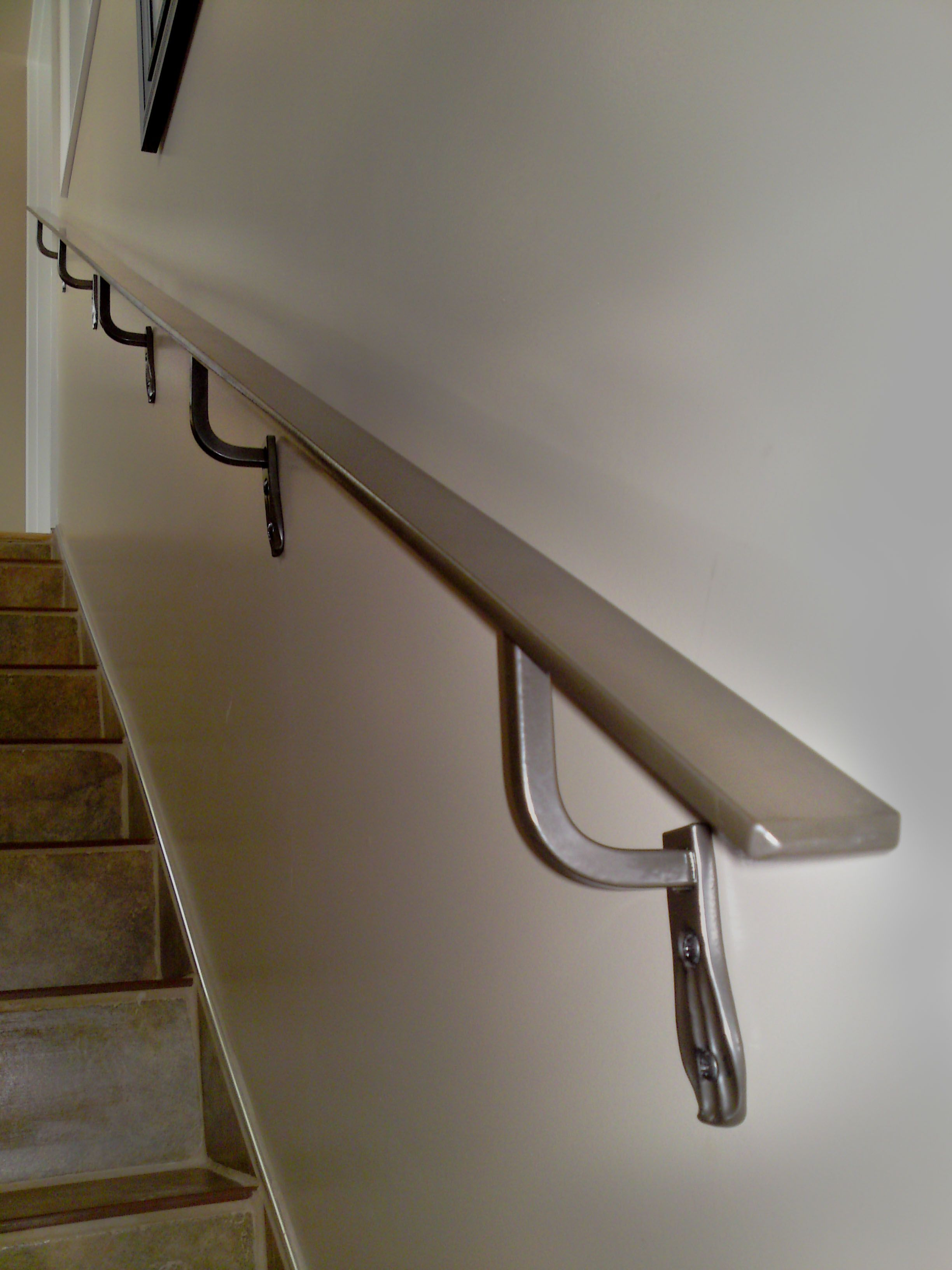Design Handrails For Stairs shining wall mounted handrails myhomeimprovement new house myhomeimprovement