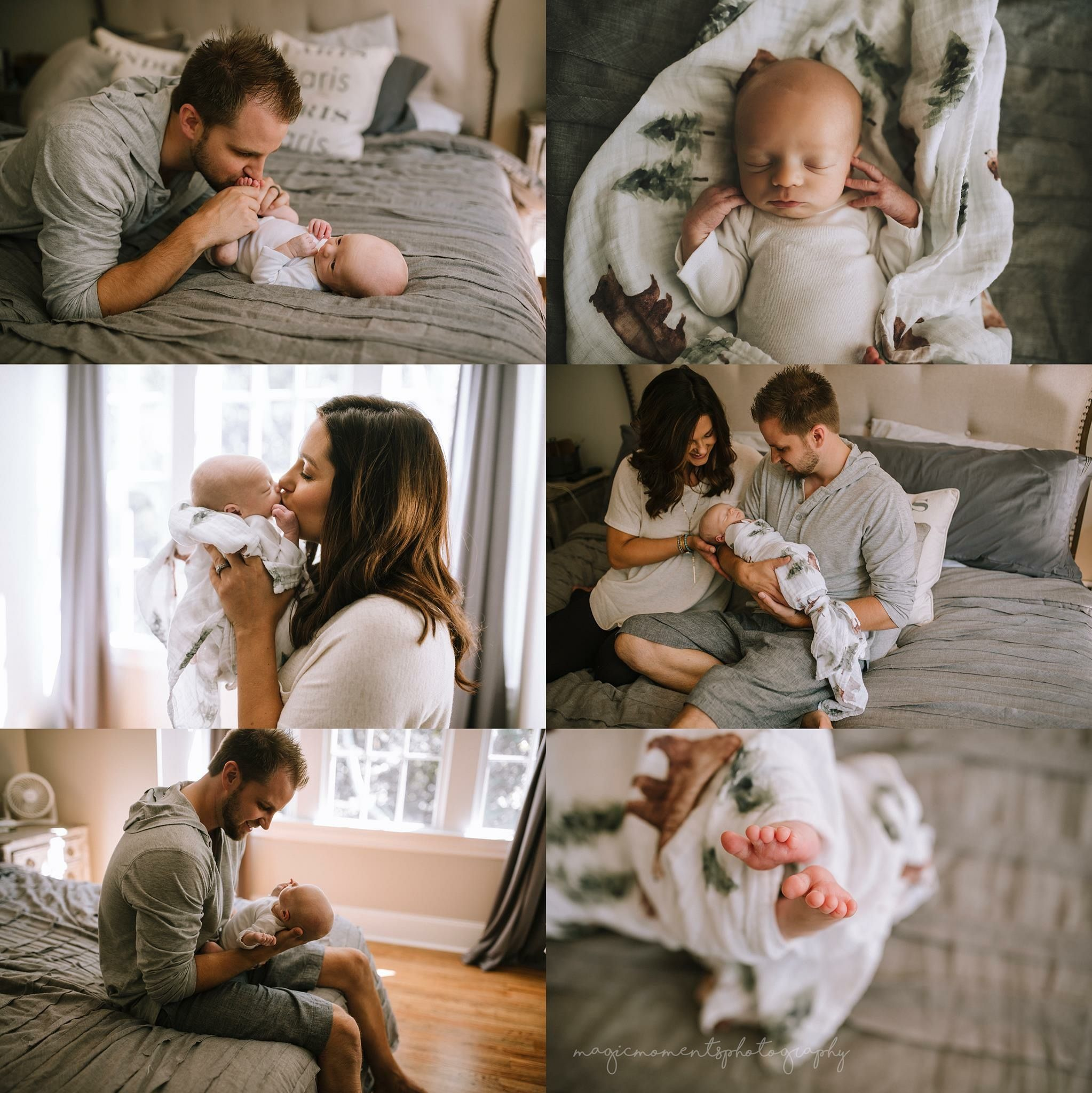 Newborn lifestyle session family love mommy and daddy babies happiness together in home ideas capture photography alabama film newborns