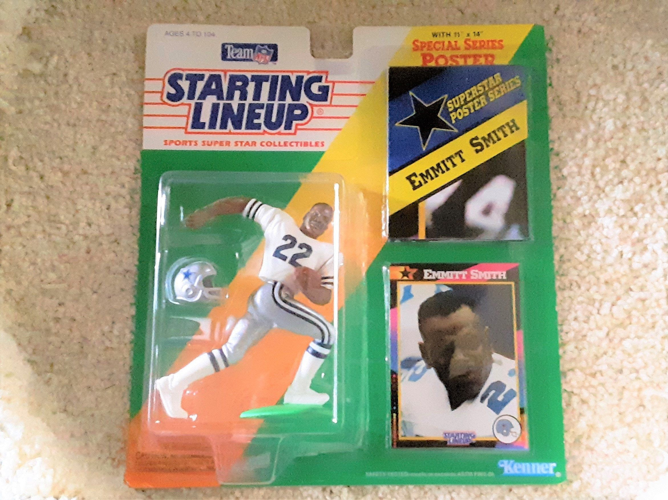 Vintage Starting Lineup Emmitt Smith 1992 Action Figure Etsy Action Figures Lineup Poster Series