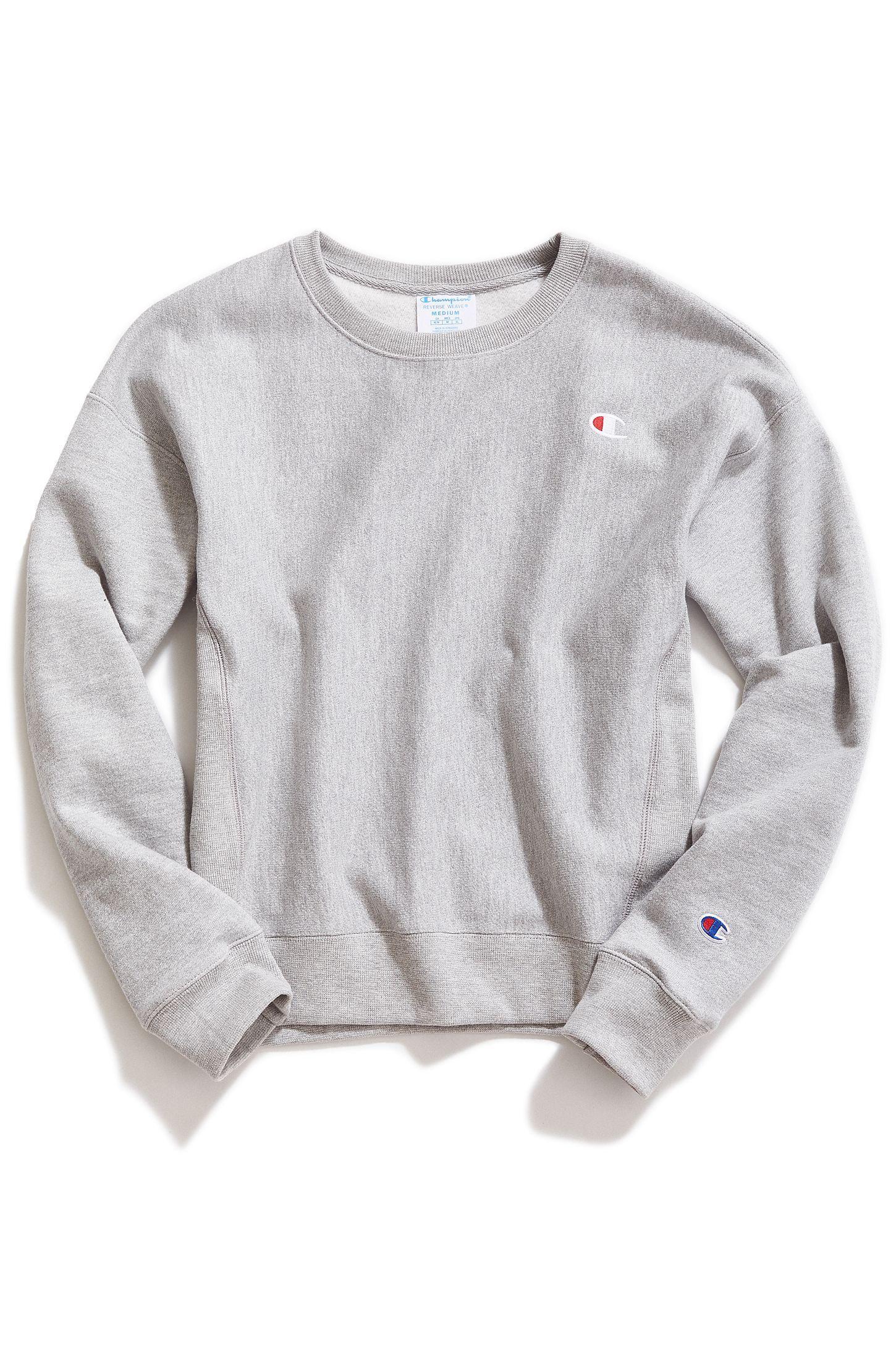 Champion Reverse Weave Logo Patch Sweatshirt Sweatshirts Patch Sweatshirts Grey Champion Sweatshirt [ 2175 x 1450 Pixel ]