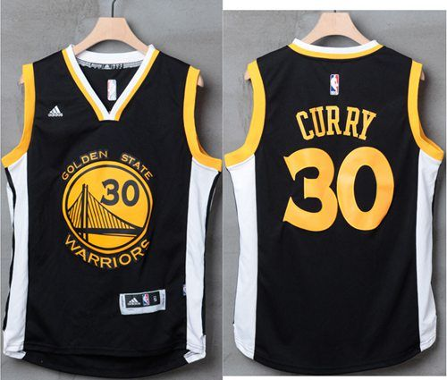 Warriors  30 Stephen Curry Black White Stitched NBA Jersey  1ec0fa891